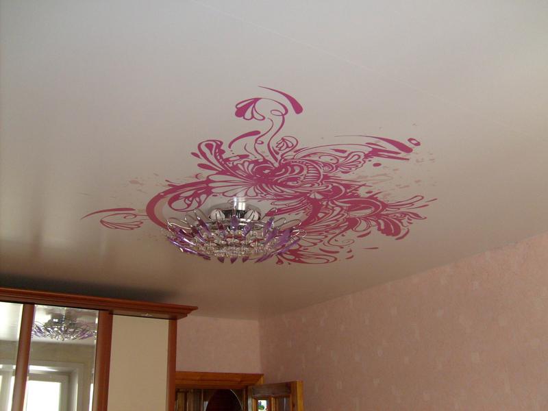Как сделать узор на потолок